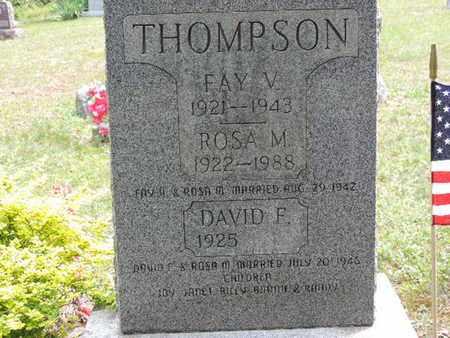 THOMPSON, FAY V. - Pike County, Ohio | FAY V. THOMPSON - Ohio Gravestone Photos