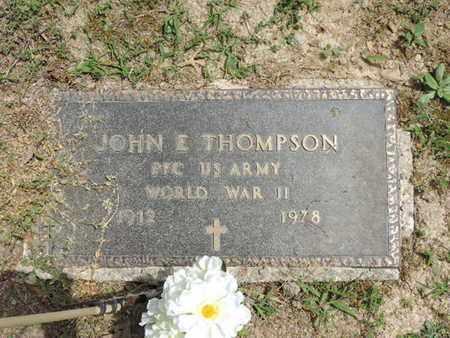 THOMPSON, JOHN E. - Pike County, Ohio | JOHN E. THOMPSON - Ohio Gravestone Photos