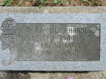 RHOADES THOMPSON, MARY OLIVE - Pike County, Ohio | MARY OLIVE RHOADES THOMPSON - Ohio Gravestone Photos