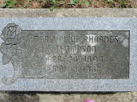 THOMPSON, MARY OLIVE - Pike County, Ohio | MARY OLIVE THOMPSON - Ohio Gravestone Photos