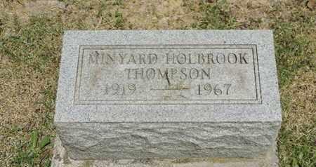 HOLBROOK THOMPSON, MINYARD - Pike County, Ohio | MINYARD HOLBROOK THOMPSON - Ohio Gravestone Photos