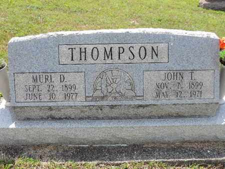 THOMPSON, MURL D. - Pike County, Ohio | MURL D. THOMPSON - Ohio Gravestone Photos