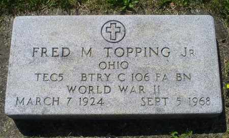 TOPPING, FRED M. JR. - Pike County, Ohio | FRED M. JR. TOPPING - Ohio Gravestone Photos