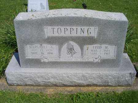 TOPPING, MARGARET A. - Pike County, Ohio | MARGARET A. TOPPING - Ohio Gravestone Photos