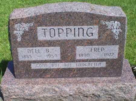 TOPPING, FRED - Pike County, Ohio | FRED TOPPING - Ohio Gravestone Photos