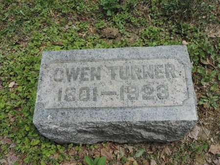 TURNER, OWEN - Pike County, Ohio   OWEN TURNER - Ohio Gravestone Photos