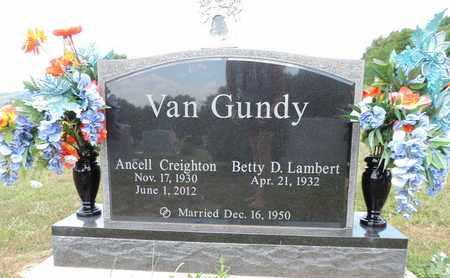 VANGUNDY, ANCELL CREIGHTON - Pike County, Ohio | ANCELL CREIGHTON VANGUNDY - Ohio Gravestone Photos