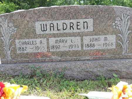 WALDREN, JOHN M. - Pike County, Ohio   JOHN M. WALDREN - Ohio Gravestone Photos