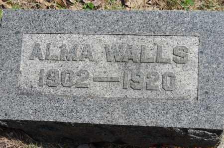 WALLS, ALMA - Pike County, Ohio | ALMA WALLS - Ohio Gravestone Photos