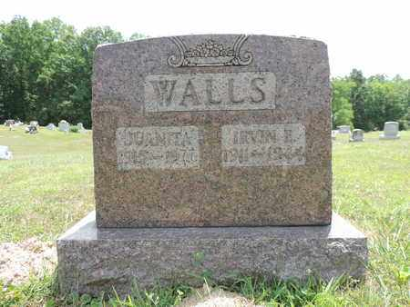 WALLS, IRVIN E. - Pike County, Ohio   IRVIN E. WALLS - Ohio Gravestone Photos