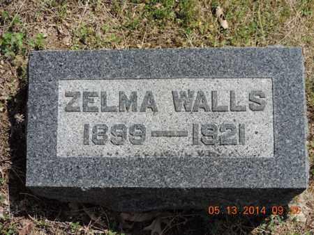 WALLS, ZELMA - Pike County, Ohio | ZELMA WALLS - Ohio Gravestone Photos