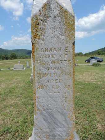 WATTS, HANNAH E. - Pike County, Ohio | HANNAH E. WATTS - Ohio Gravestone Photos