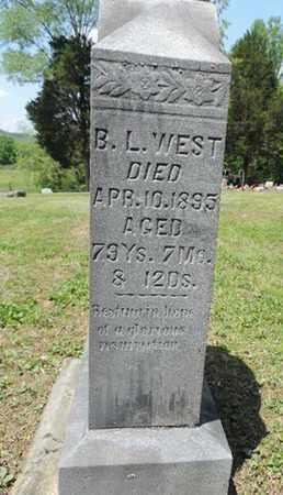 WEST, B.L. - Pike County, Ohio   B.L. WEST - Ohio Gravestone Photos