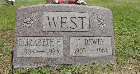WEST, J. DEWEY - Pike County, Ohio | J. DEWEY WEST - Ohio Gravestone Photos