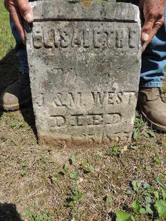 WEST, ELIZABETH E. - Pike County, Ohio | ELIZABETH E. WEST - Ohio Gravestone Photos