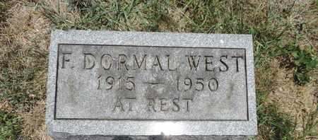 WEST, F. DORMAL - Pike County, Ohio | F. DORMAL WEST - Ohio Gravestone Photos