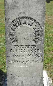 WEST, JONATHAN - Pike County, Ohio   JONATHAN WEST - Ohio Gravestone Photos