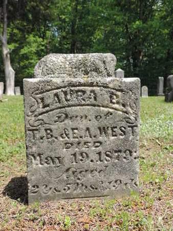 WEST, LAURA E. - Pike County, Ohio | LAURA E. WEST - Ohio Gravestone Photos