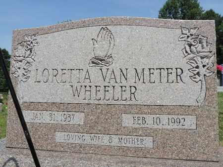 VANMETER WHEELER, LORETTA - Pike County, Ohio | LORETTA VANMETER WHEELER - Ohio Gravestone Photos
