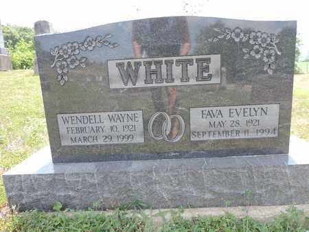 WHITE, FAVA EVELYN - Pike County, Ohio   FAVA EVELYN WHITE - Ohio Gravestone Photos