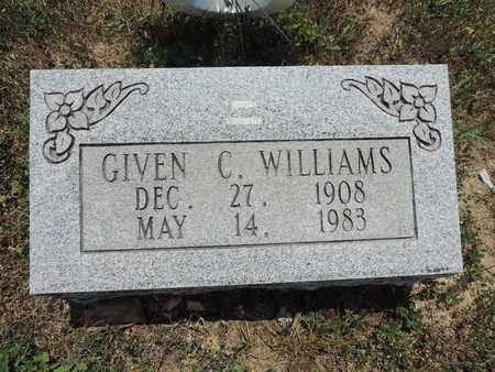 WILLIAMS, GIVEN C. - Pike County, Ohio | GIVEN C. WILLIAMS - Ohio Gravestone Photos