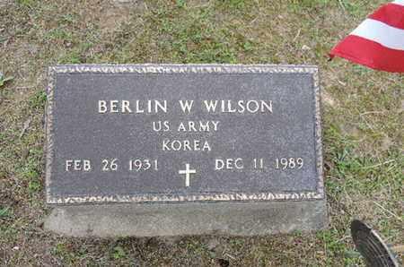 WILSON, BERLIN W. - Pike County, Ohio | BERLIN W. WILSON - Ohio Gravestone Photos