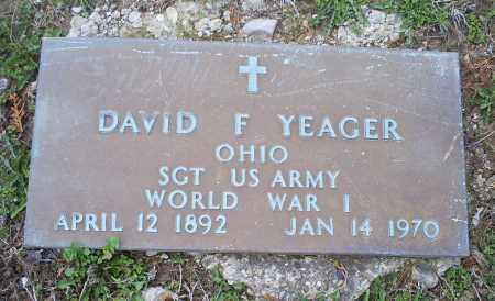 YEAGER, DAVID F. - Pike County, Ohio | DAVID F. YEAGER - Ohio Gravestone Photos