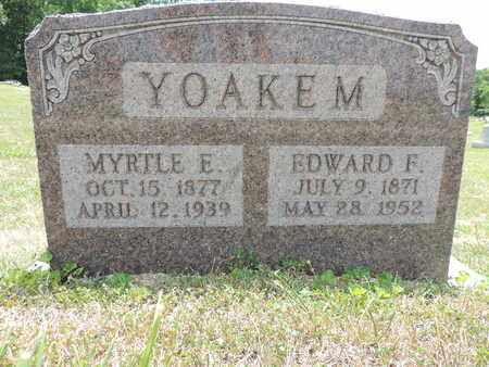 YOAKEM, EDWARD F - Pike County, Ohio | EDWARD F YOAKEM - Ohio Gravestone Photos