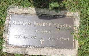 YOAKEM, MARLIN GEORGE - Pike County, Ohio   MARLIN GEORGE YOAKEM - Ohio Gravestone Photos