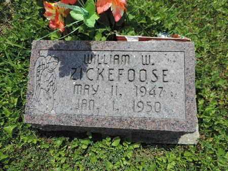 ZICKEFOOSE, WILLIAM W - Pike County, Ohio   WILLIAM W ZICKEFOOSE - Ohio Gravestone Photos