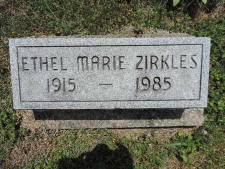 ZIRKLES, ETHEL MARIE - Pike County, Ohio   ETHEL MARIE ZIRKLES - Ohio Gravestone Photos