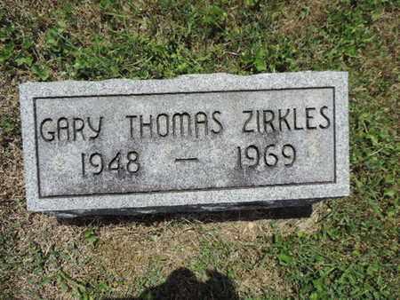 ZIRKLES, GARY THOMAS - Pike County, Ohio | GARY THOMAS ZIRKLES - Ohio Gravestone Photos