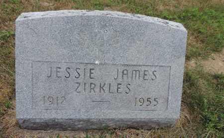 ZIRKLES, JESSIE JAMES - Pike County, Ohio | JESSIE JAMES ZIRKLES - Ohio Gravestone Photos