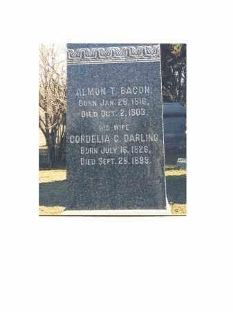 BACON, CORDELIA - Portage County, Ohio | CORDELIA BACON - Ohio Gravestone Photos