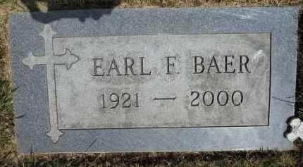 BAER, EARL F - Portage County, Ohio | EARL F BAER - Ohio Gravestone Photos
