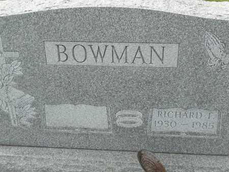 BOWMAN, RICHARD F - Portage County, Ohio | RICHARD F BOWMAN - Ohio Gravestone Photos