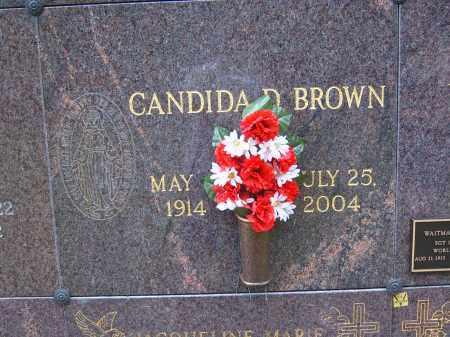 BROWN, CANDIDA D - Portage County, Ohio   CANDIDA D BROWN - Ohio Gravestone Photos