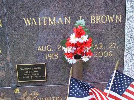 BROWN, WAITMAN L - Portage County, Ohio | WAITMAN L BROWN - Ohio Gravestone Photos