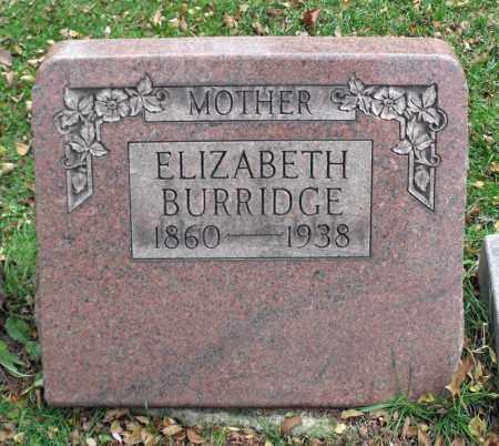 BURRIDGE, ELIZABETH - Portage County, Ohio | ELIZABETH BURRIDGE - Ohio Gravestone Photos