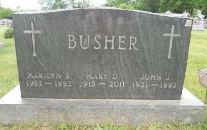BUSHER, MARILYN S - Portage County, Ohio   MARILYN S BUSHER - Ohio Gravestone Photos