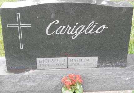 CARIGLIO, MICHAEL J - Portage County, Ohio   MICHAEL J CARIGLIO - Ohio Gravestone Photos