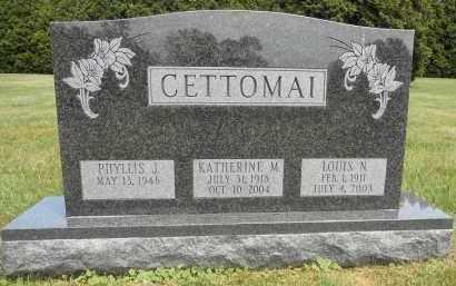 CETTOMAI, KATHERINE M - Portage County, Ohio   KATHERINE M CETTOMAI - Ohio Gravestone Photos