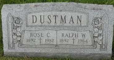 DUSTMAN, RALPH W - Portage County, Ohio | RALPH W DUSTMAN - Ohio Gravestone Photos