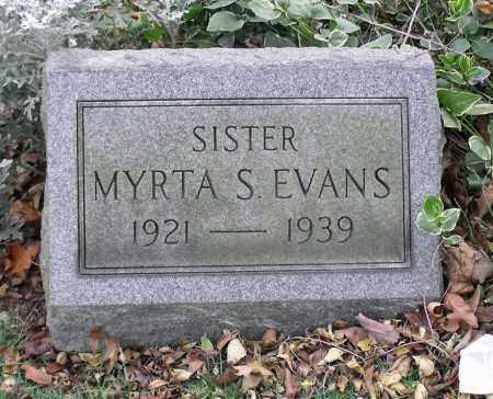 EVANS, MYRTA S. - Portage County, Ohio | MYRTA S. EVANS - Ohio Gravestone Photos
