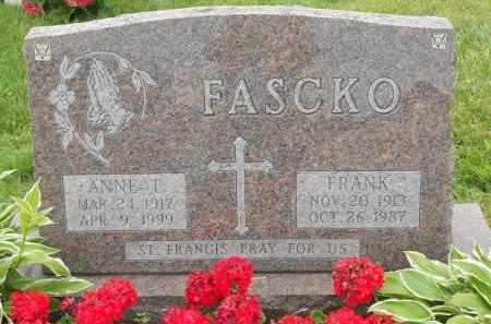FASCKO, FRANK - Portage County, Ohio | FRANK FASCKO - Ohio Gravestone Photos