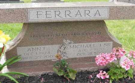 FERRARA, ANNE E - Portage County, Ohio   ANNE E FERRARA - Ohio Gravestone Photos