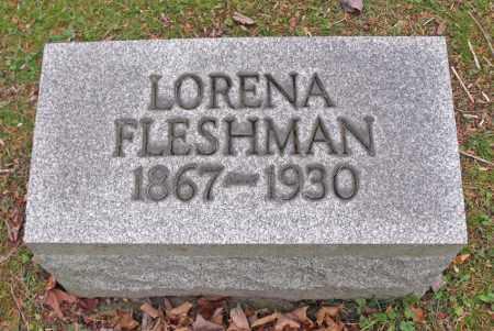 NIGHMAN FLESHMAN, LORENA - Portage County, Ohio | LORENA NIGHMAN FLESHMAN - Ohio Gravestone Photos