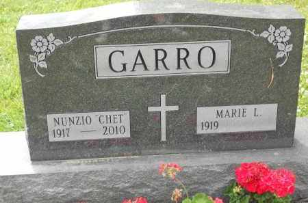 "GARRO, NUNZIO ""CHET"" - Portage County, Ohio   NUNZIO ""CHET"" GARRO - Ohio Gravestone Photos"
