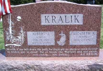KRALIK, ALBERT JOSEPH - Portage County, Ohio | ALBERT JOSEPH KRALIK - Ohio Gravestone Photos