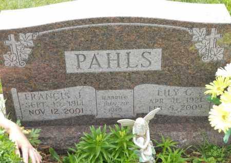 PAHLS, FRANCIS J - Portage County, Ohio | FRANCIS J PAHLS - Ohio Gravestone Photos